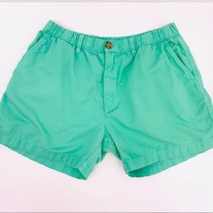 "Chubbies 4.5"" Green Cotton Shorts Size Large"